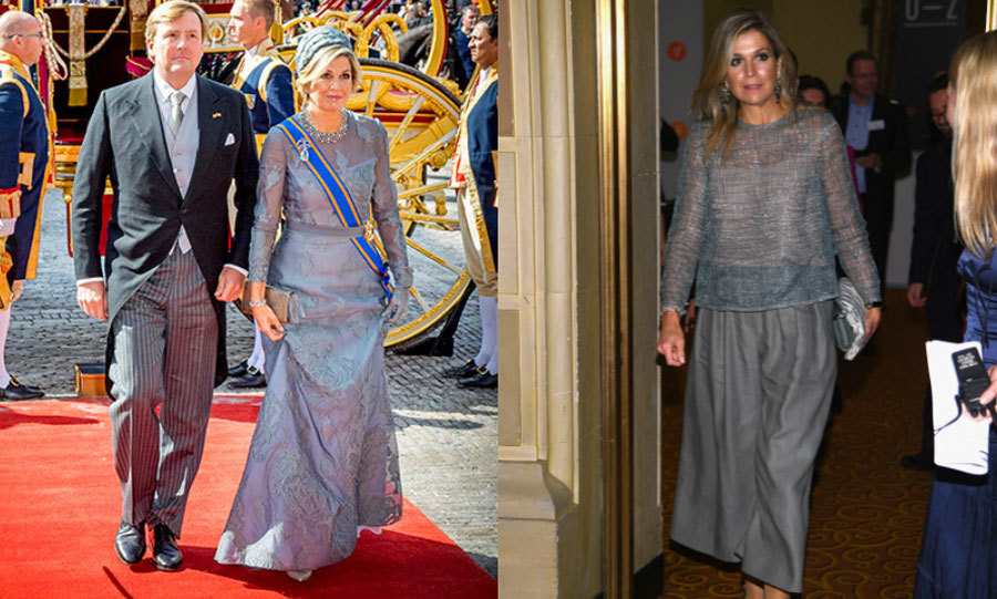 Queen Maxima certainly had a stylish Tuesday. She started September 19 opening Dutch Parliament with her husband King Willem-Alexander in a Natan gown, and then she made her way to New York City to attend the Goalkeepers Global Goals Awards in a similar hue but more comfortable dress.
