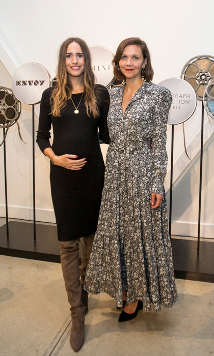 A pregnant Louise Roe and Maggie Gyllenhaal stopped by Autograph Collection Hotels' exclusive screening of <i>Gemini</i> at The Envoy Hotel in Boston on September 19, as part of the brand's Indie Film Project. 