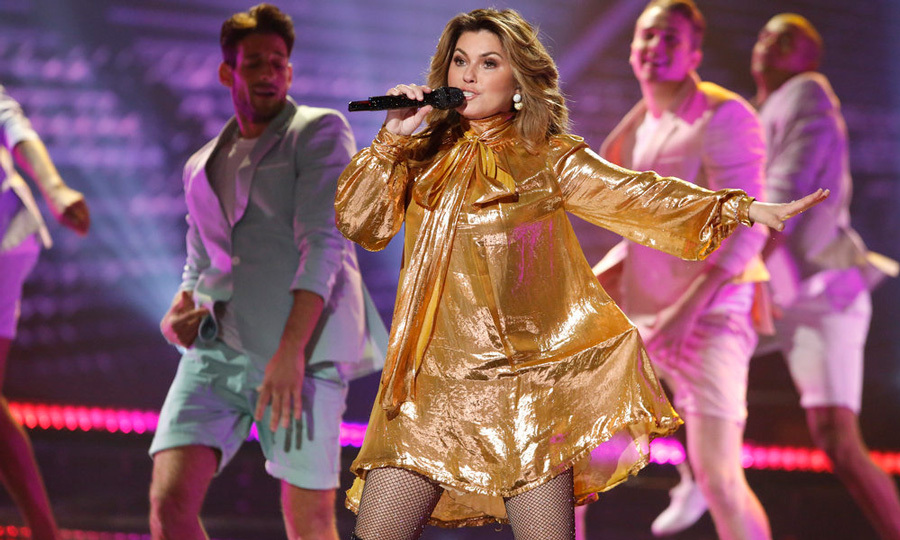 Shania Twain was golden during her performance on the finale of <i>America's Got Talent</i>. The singer, whose new album <i>Now</i> comes out on September 29, was joined on stage by contestant Mandy Harvey.