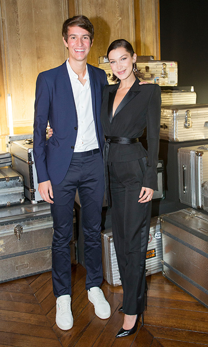 CEO of Rimowa and LVMH heir Alexandre Arnault, 25, hosted a dinner with guests like Bella Hadid to celebrate the 80th Anniversary of Rimowa's iconic aluminium suitcase at Restaurant 1728 on September 26. 