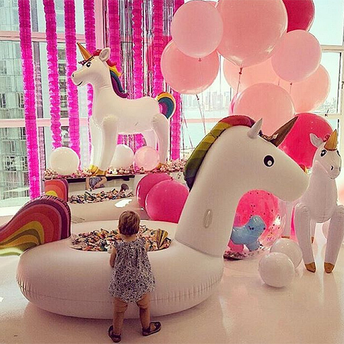 What's better than a birthday party? A birthday party with unicorns! Nicky Hilton Rothschild's daughter Lily-Grace turned one in style, with both her mom and her aunt Paris sharing this fun balloon-filled picture of the toddler celebrating on Instagram. 