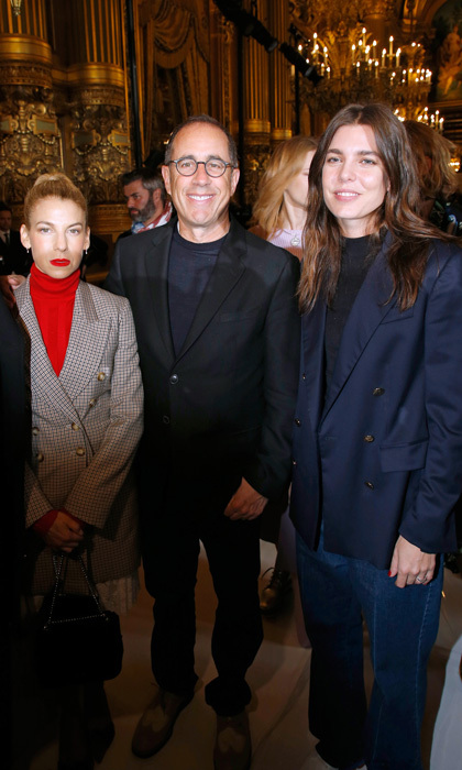 A day after hanging with Charlotte Casiraghi's ex Gad Elmaleh, Jerry and Jessica Seinfeld hung with the Monaco royal at the Stella McCartney show.