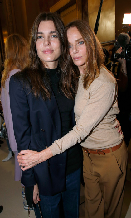 Charlotte Casiraghi celebrated with designer Stella McCartney after her show.