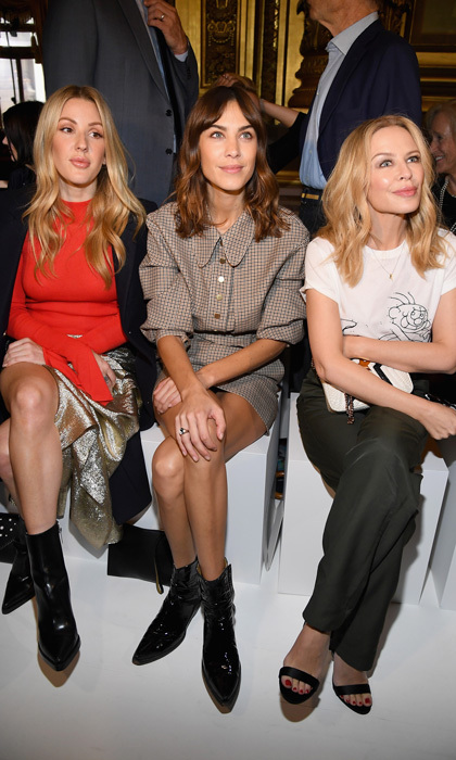 Ellie Goulding, Alexa Chung and Kylie Minogue took the front row at Stella McCartney.