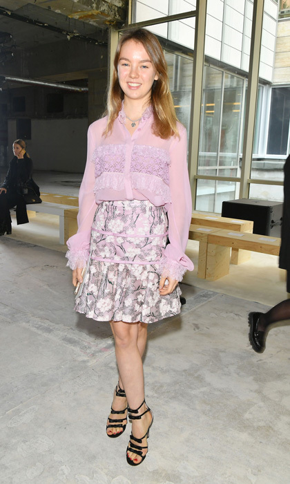 Grace Kelly's granddaughter, Princess Alexandra of Hanover, looked pretty in pink stepping out in a frilly ensemble for the Giambattista Valli spring/summer 2018 fashion show.