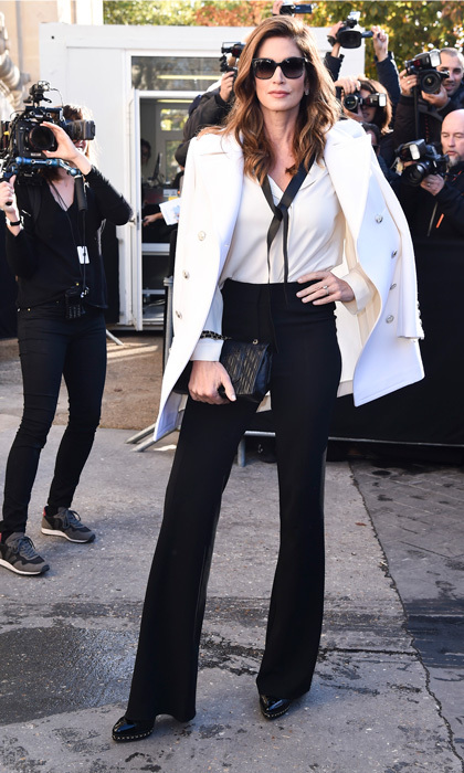 Cindy Crawford was a stunner as she arrived to the Chanel show to watch daughter Kaia Gerber work the runway.