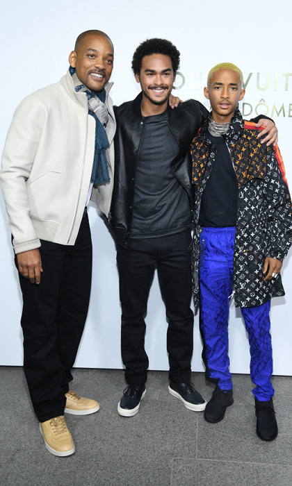 The opening of the Louis Vuitton boutique was a family affair for Will Smith, who brought his sons Trey and Jaden as his dates.