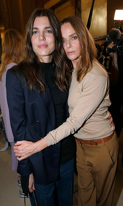 "Monaco's glam young royal <a href=""http://us.hellomagazine.com/tags/1/charlotte-casiraghi/"">Charlotte Casiraghi</a> was the guest of honor at Stella McCartney's Paris Fashion Week show on October 2. The designer caught up with her glam friend backstage after previewing her Womenswear  Spring/Summer 2018 collection.