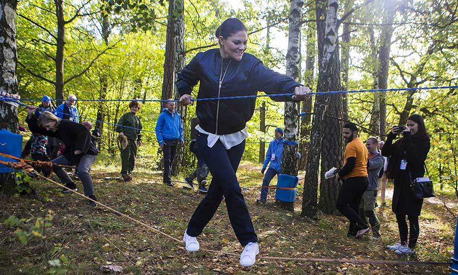 "Who knew that <a href=""http://us.hellomagazine.com/tags/1/crown-princess-victoria/"">Crown Princess Victoria</A> was so agile? Sweden's future queen showed off some fancy footwork as she joined in the fun at the Swedish Outdoor Association's 125th anniversary celebrations at Stockholm's Haga Park on October 4.