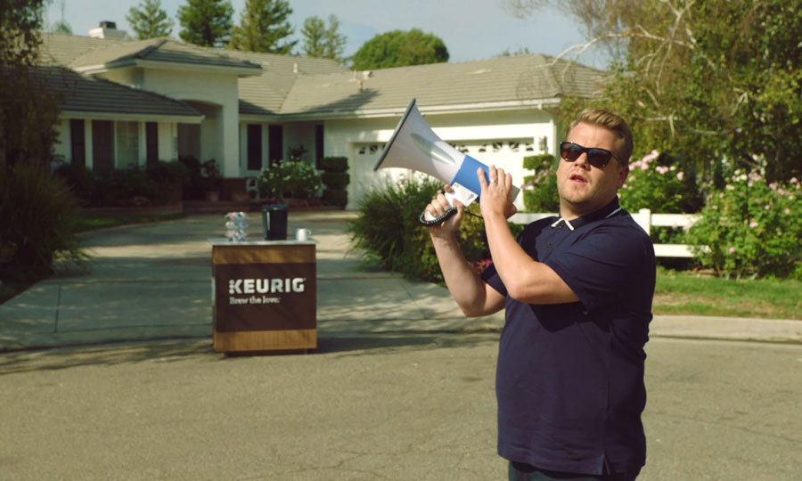 James Corden teamed up with Keurig to collaborate on and star in the brand's latest campaign, Brew the Love. Together, the late night talk show host and Keurig charged their way across America to convert real-life drip coffee drinkers into Keurig coffee lovers.