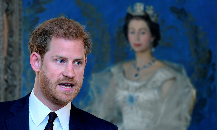 A portrait of his grandmother Queen Elizabeth in the background, Prince Harry attended his first engagement back home in London after his high profile appearance at the Invictus Games in Toronto last month. The British royal – who made his public debut with American girlfriend Meghan Markle of TV drama <I>Suits</I> during the week-long Paralympics-style sports competition – spoke at an event on mental health at the Ministry of Defence (MoD) on October 9.