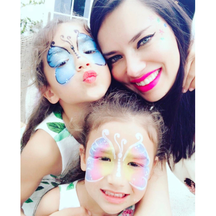 Adriana's daughters have caught on that their mother models for a living.