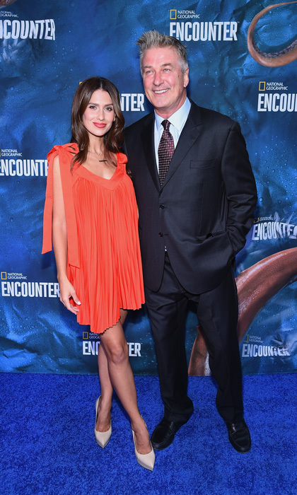 Alec and Hilaria Baldwin left the kids at home and stepped out for date night at the National Geographic Encounter Blue Carpet VIP preview celebration on October 4 in NYC.