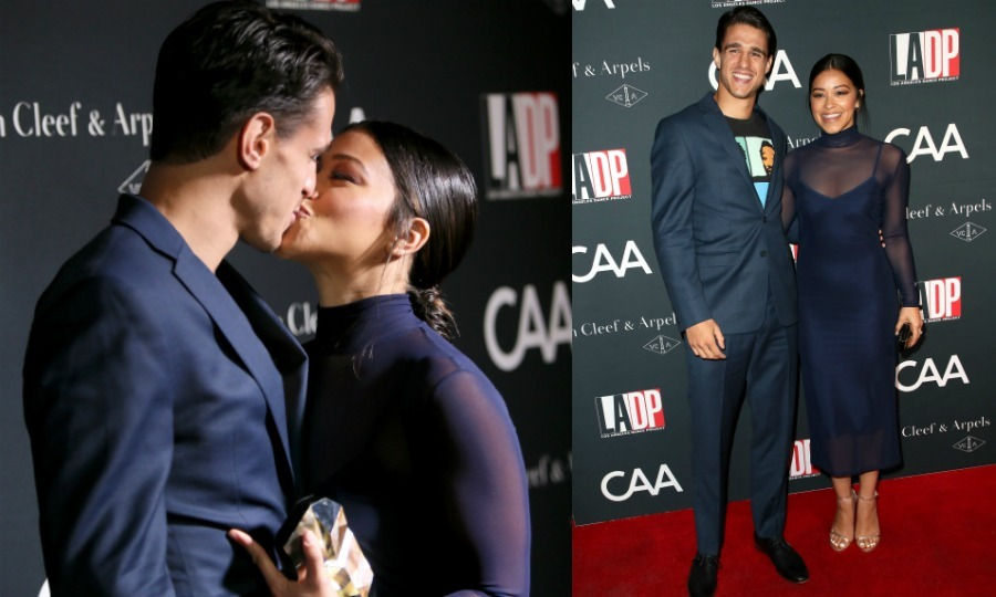 Gina Rodriguez and her boyfriend Joe LoCicero put their love on display while walking the red carpet on October 7. The cute couple attended the L.A. Dance Project, which was hosted by Natalie Portman and her husband Benjamin Millepied. 