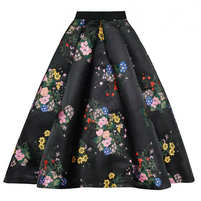 This 1950s-style A-line skirt is in a similar floral print to an Erdem dress Duchess Kate wore in April 2017.
