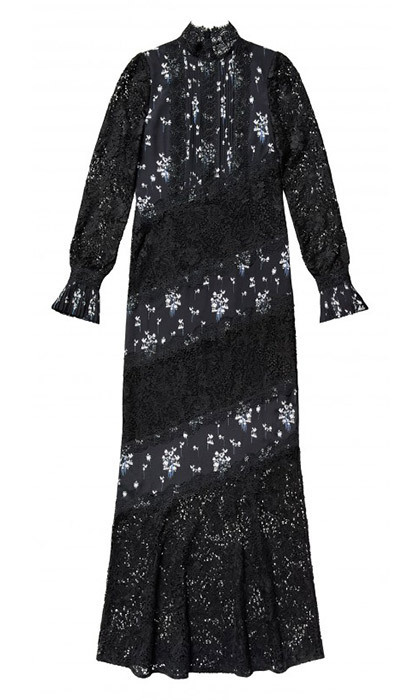 Duchess Kate can't resist a floor-length lace dress for evening – and for us non-royals, this look would be fab for winter's holiday parties.