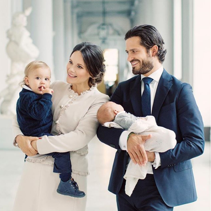 "Prince Carl Philip and Princess Sofia of Sweden released a brand new family portrait featuring their sons Prince Alexander and newborn Prince Gabriel. The royal couple thanked well-wishers with a special message that read: ""Thank you very much for all the kind congratulations we have received in connection with the birth of our son, Prince Gabriel. We appreciate your care very much."" The pair welcomed their second child Prince on August 31, 2017. 