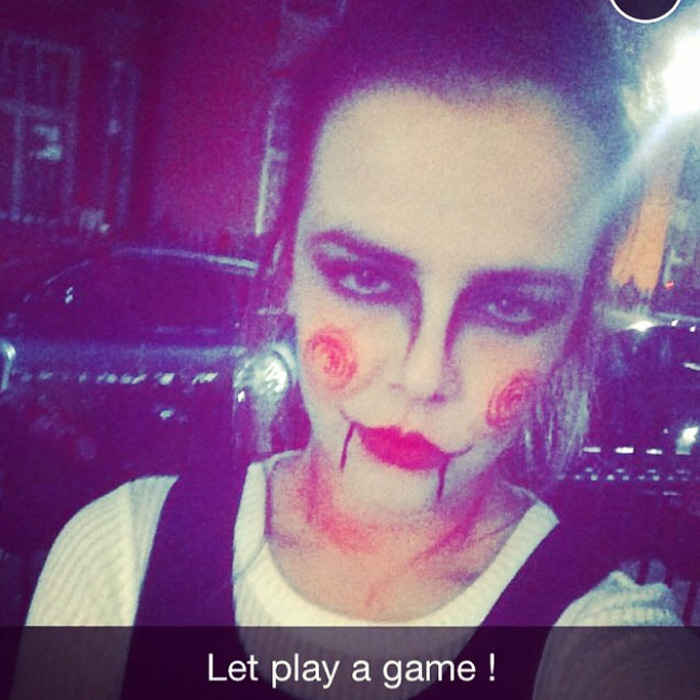 "It seems Camille may have been inspired by her older sister Pauline who, a few years prior, donned her own version of the <i>Saw</i> killer ensemble. ""Happy halloween ! #saw #letsplaythegame #london ,"" she penned alongside her photo in 2014.