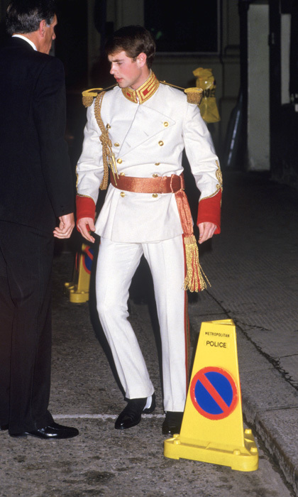 A real life prince charming! Queen Elizabeth's son Prince Edward was dressed to the nines for the 1984 Raj Ball held at London's Lyceum Theatre, in London.