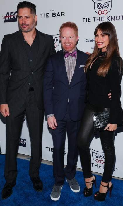 Jesse Tyler Ferguson posed with his <i>Modern Family</i> co-star Sofia Vergara and her husband Joe Manganiello at an event close to his heart! Jesse's non-profit advocacy organization Tie the Knot, founded with his husband Justin Mikita, celebrated its' fifth anniversary at NeueHouse in Hollywood. Their foundation supports LGBTQ equality around the world. They were thrilled to announce at the event that the cause surpassed $1,000,000 in funds raised!