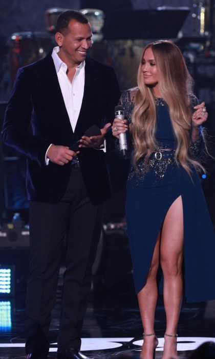 J-Rod! Power couple Alex Rodriguez and Jennifer Lopez were adorable while speaking onstage together during the live show.