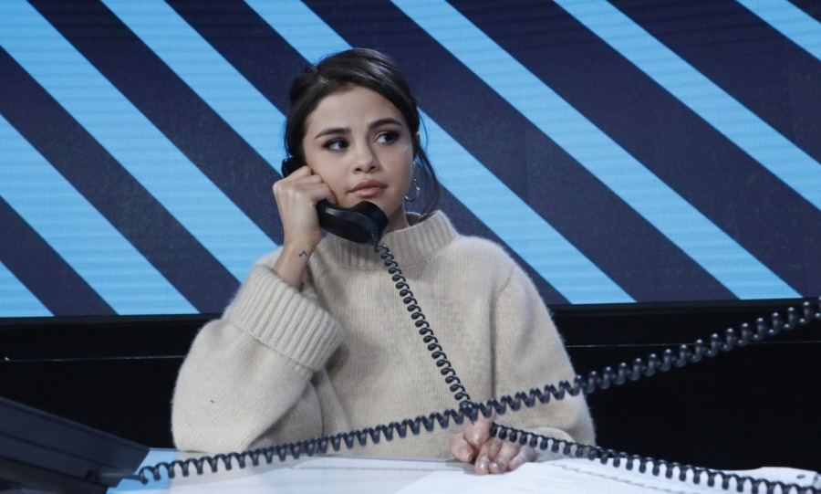 All tied up! Selena Gomez was one of the many stars to man the donation phone lines at the important event. 