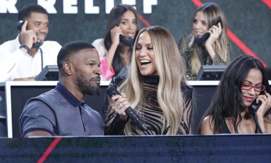"Jamie Foxx also participated in the phone bank during ""Somos Live!"" in L.A.