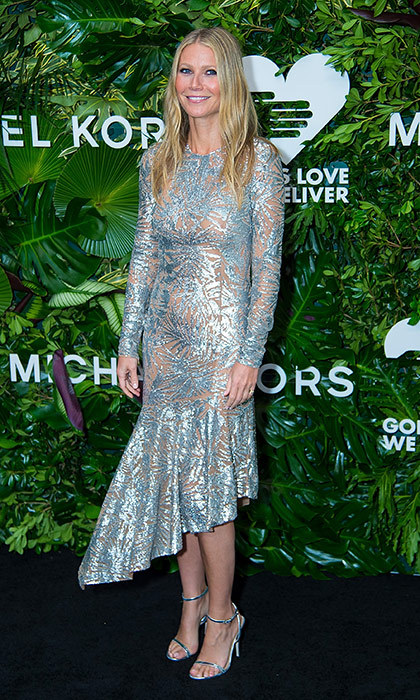 Gwyneth Paltrow was a shining star in a metallic Spring 2018 look by Michael Kors at the 11th Annual God's Love We Deliver Golden Heart Awards at Spring Studios in New York City on October 16.
