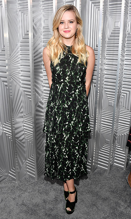 Reese Witherspoon's look-alike daughter Ava Phillippe, 18, was also on hand for the ELLE event. The fresh-faced beauty opted for a tiered halterneck dress with platform sandals.
