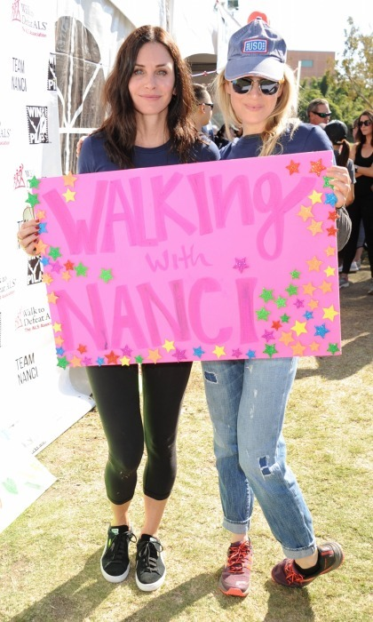 "Courteney Cox and Renee Zellweger came together for a great cause on Sunday, October 15. The actors walked in support of publicist Nanci Ryder, under ""Team Nanci,"" for the annual L.A. County Walk to Defeat ALS at Exposition Park. Other celebrities, like Matt Bomer, were also on the team.