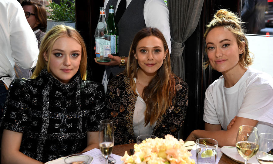 Dakota Fanning, Elizabeth Olsen and Olivia Wilde were ladies who lunch during the Through Her Lens: The Tribeca Chanel Women's Filmmaker Program Luncheon at Locanda Verde in NYC.