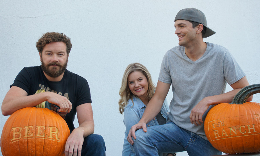 Ashton Kutcher, Danny Masterson and Elisha Cuthbert got in the Halloween spirit early on the set of their Netflix show <i>The Ranch<i> which will return on December 15.