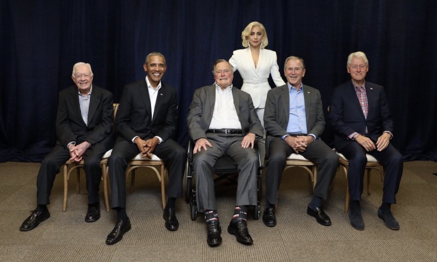 "Lady Gaga shared a photo of herself with the group of former Presidents on Twitter. The superstar wrote: ""Nothing more beautiful than everyone putting their differences aside to help humanity in the face of catastrophe. #OneAmericaAppeal.""