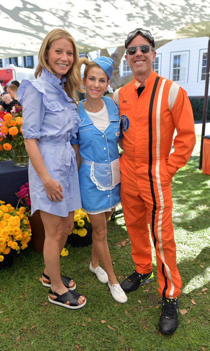 Gwyneth Paltrow, Jessica and Jerry Seinfeld were all smiles during the second annual GOOD+ Foundation Halloween Bash presented by Beautycounter held at the Culver Studios in Culver City, California. The family-fun day raised nearly $300,000 to benefit the Foundation's work to help lift families out of poverty in the Los Angeles area.