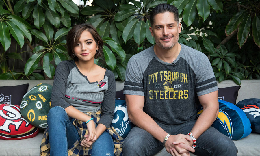 Go team! Joe Manganiello and Isabela Moner showed off their customized NFL apparel at the Express Your Style Event where L.A. fans customized their own #NFLFanStyle on October 19 at the Levi's Haus of Strauss in Los Angeles. 