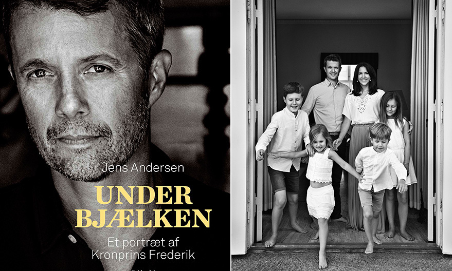 In the run-up to Crown Prince Frederik of Denmark's 50th birthday next year, the royal received the first copy of the new book <I>Under the Beam</I>, a biographical portrait of the future King written by author Jens Andersen and published by Gyldendal. The book includes this gorgeous black and white picture of the Crown Prince with his family: wife Crown Princess Mary and their four children, Prince Christian, Princess Isabella and twins Josephine and Vincent. More photos can be seen on the Danish royal Instagram account, @detdanskekongehus.