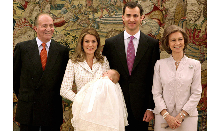 The little royal was baptized in the church at the family home in Madrid, Zarzuela Palace, on January 14, 2006. Leonor's godparents are her paternal grandparents, King Juan Carlos, who served as Spain's monarch from 1975 until his abdication in 2014, and his wife Queen Sofia. During the ceremony, proud grandmother Sofia remarked to reporters that her granddaughter was not only beautiful, but also well-behaved.
