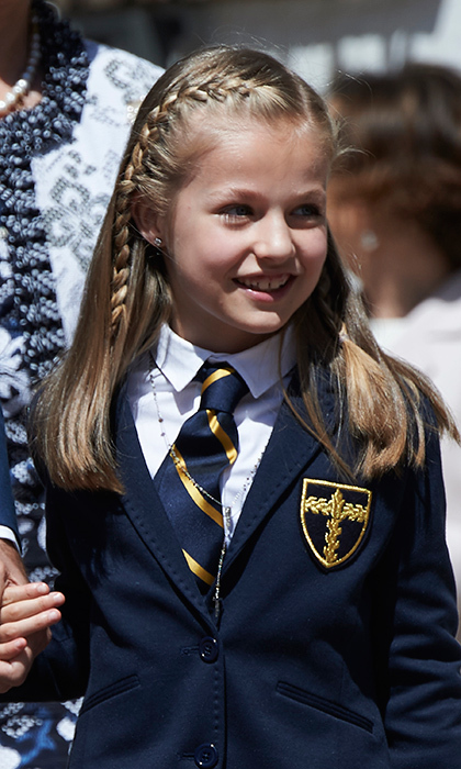 Princess Leonor attends Santa Maria de los Rosales school, where her father was once a student, in the Madrid suburb of Aravaca. Eventually she will likely study abroad as her father did – the King has a degree in law from the University of Madrid and a Masters in Foreign Service from Georgetown University.