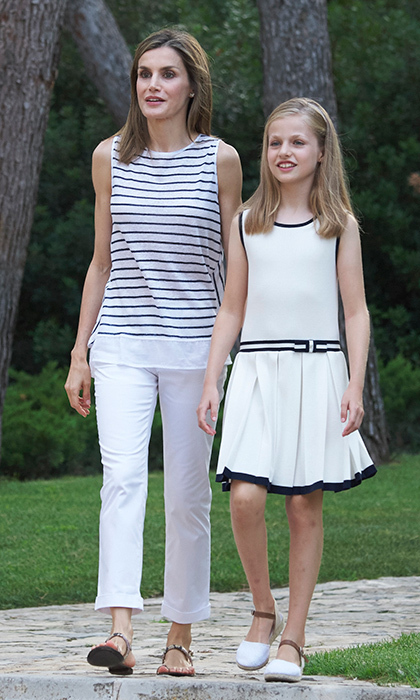 Mom Queen Letizia is known for her great wardrobe, and the royal style icon seems to have passed on her chic taste to her daughter! The pair – along with Leonor's little sister Sofia – often wear complimenting ensembles, and both mom and daughters also love  afforable brands including Spanish labels Mango and Zara.