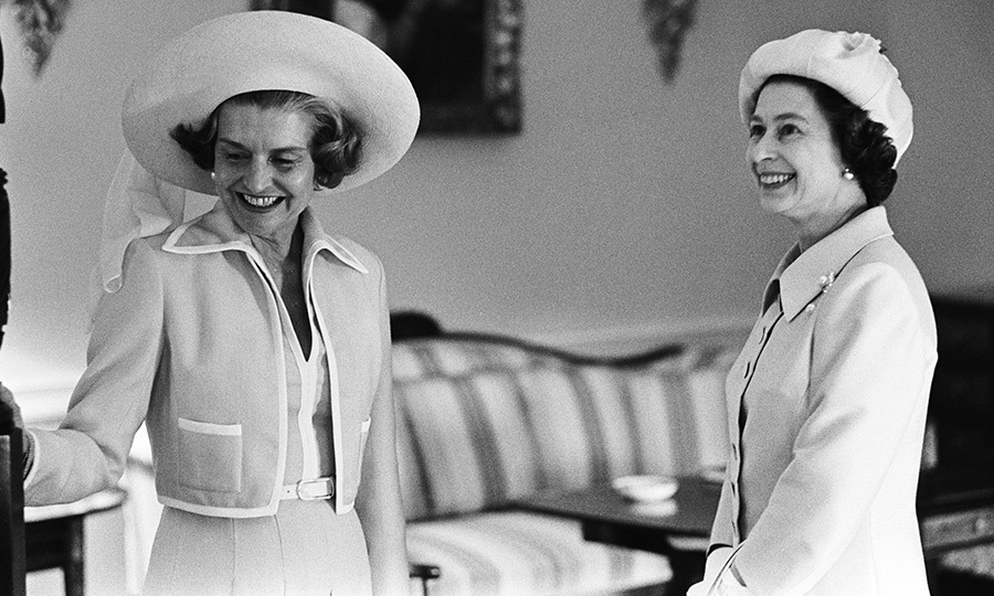 <B>BETTY FORD AND QUEEN ELIZABETH II</B>