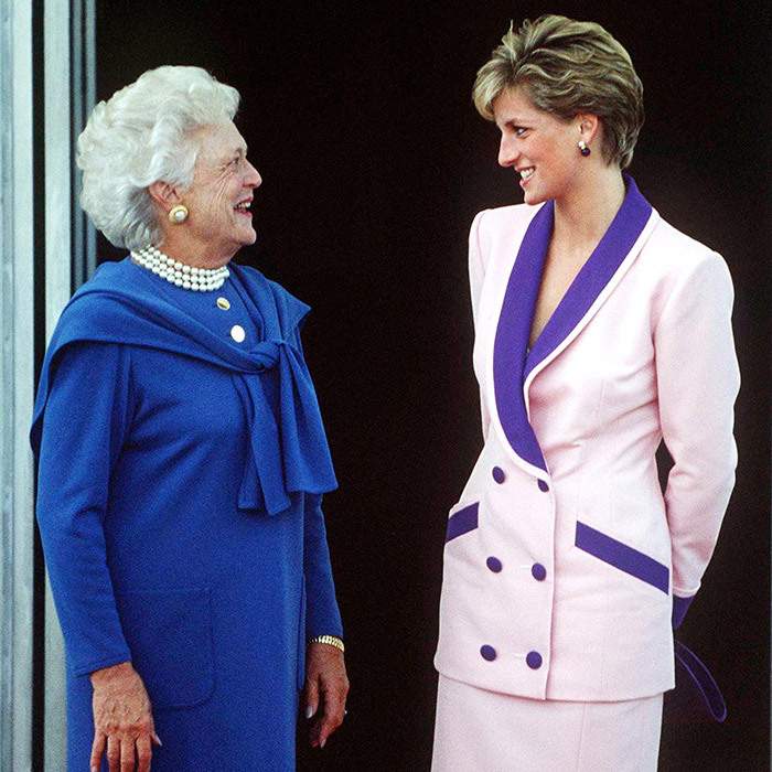 <b>BARBARA BUSH AND PRINCESS DIANA</B>