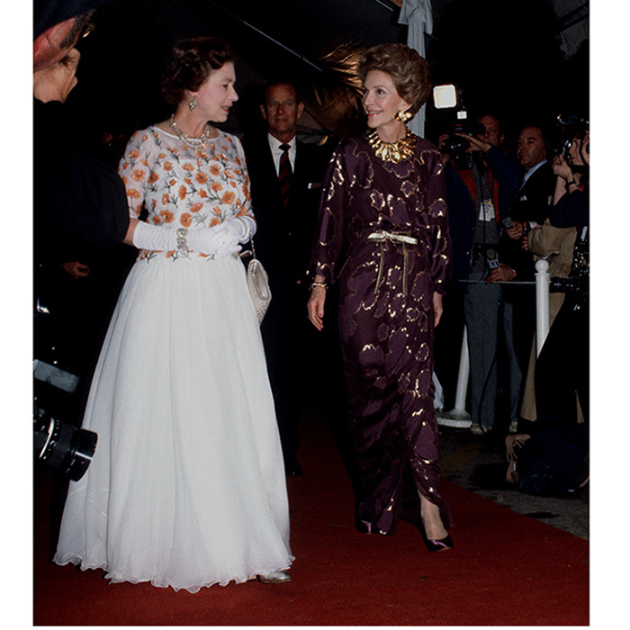 <b>NANCY REAGAN AND QUEEN ELIZABETH II</B>