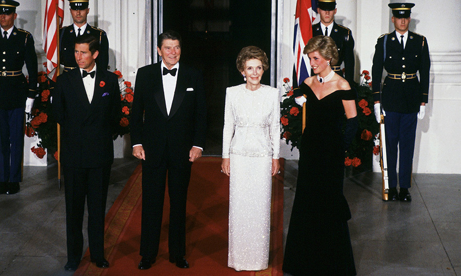 <B>NANCY REAGAN AND PRINCESS DIANA</B>