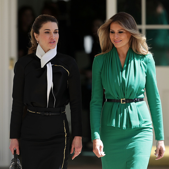 <b>MELANIA TRUMP AND QUEEN RANIA OF JORDAN</B>