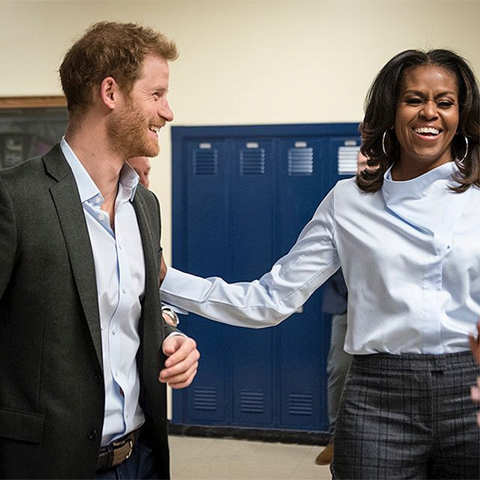 <b>MICHELLE OBAMA AND PRINCE HARRY</B>
