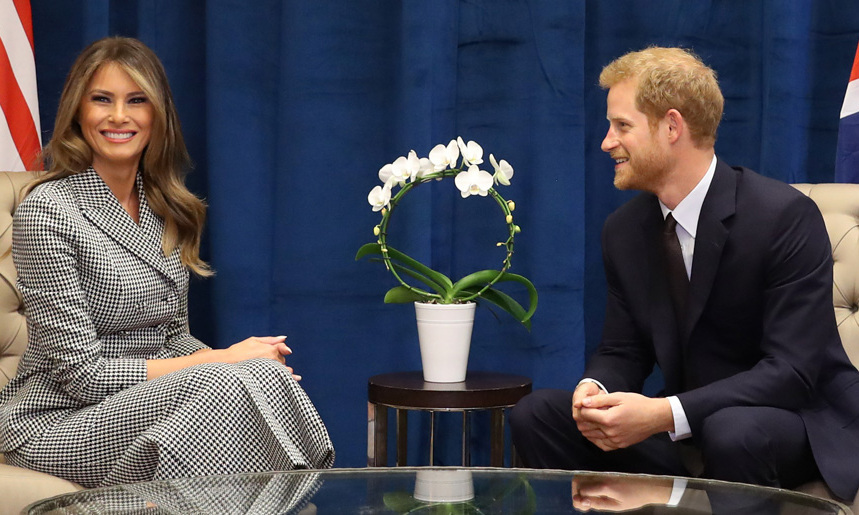<b>MELANIA TRUMP AND PRINCE HARRY</B>