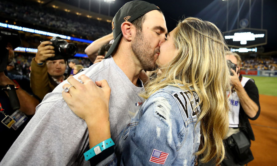 After celebrating their big win in Los Angeles, the couple, who stole a kiss on the field, will get back to wedding preparations.