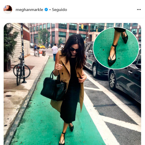 When it comes to shoes, another of Meghan's go-to labels is Sarah Flint. The shoe designer's collection features shoes that are handmade by Italian artisans. The perfect accessory for the star to put her best foot forward. 