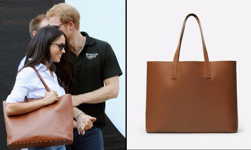 Sure we loved seeing Prince Harry and Meghan Markle at together at the Invictus Games Toronto – but we also were totally enamored of her cool leather tote. The style is by Everlane and it costs $165.
