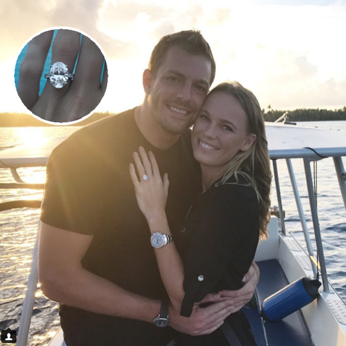 <b>Caroline Wozniacki and David Lee</b>